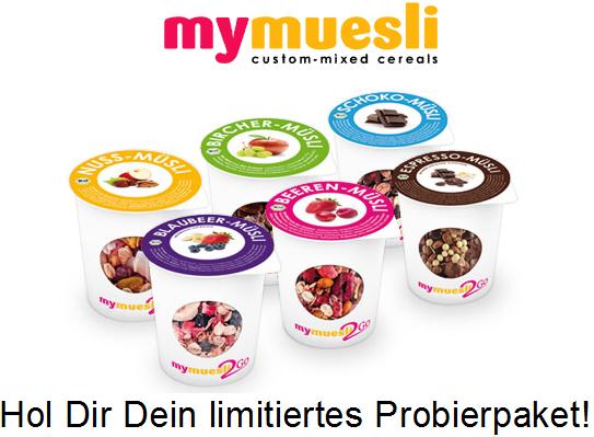 Kostenlos! Mymuesli2go 6 Probierpackungen mit je 85g (zzgl. 3,90€ inkl. Versand)