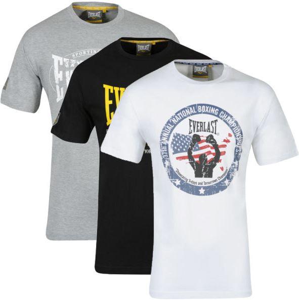 Update! 3er Pack T Shirts von EVERLAST für 16,50 & Polo Shirt von RUSSEL ATHLETIC, für 12,49€
