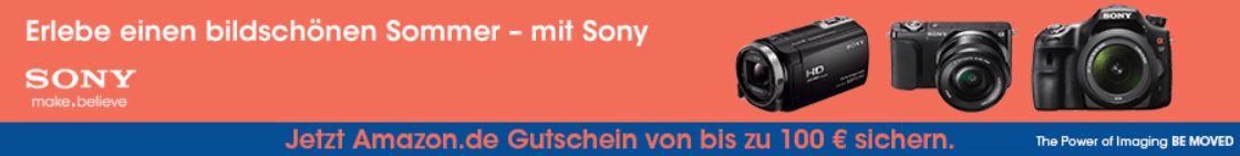 Tipp! Amazon SONY Sommer Aktion Gutschein Cashback von 30 bis 100€!