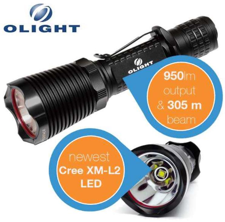 Olight M22 Warrior   Taktische LED Taschenlampe inkl. Aufbewahrungskoffer für 55,90€   wieder da!