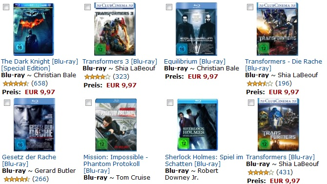 2 Blu Rays für 16€   Ziemlich coole Auswahl!