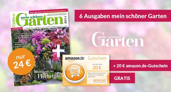 """Miniabo Halbjahresabo von """"Mein schöner Garten"""" für 24€ + 20€ Gutschein"""
