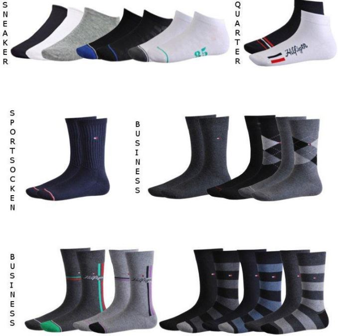 Tommy Hilfiger 4er Pack Sport, Business und Sneaker Socken je Pack 14,99€   Update
