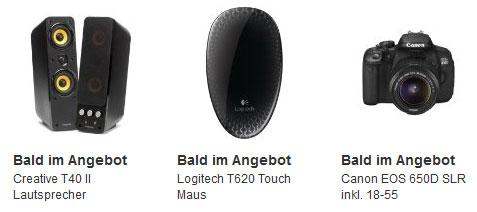 Amazon Blitzangebote ab 14Uhr: Creative T40 II Lautsprecher, Logitech T620 Maus, Canon EOS 650D