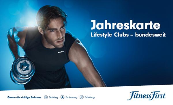 Fitness First Jahreskarten rabattiert durch vente privee