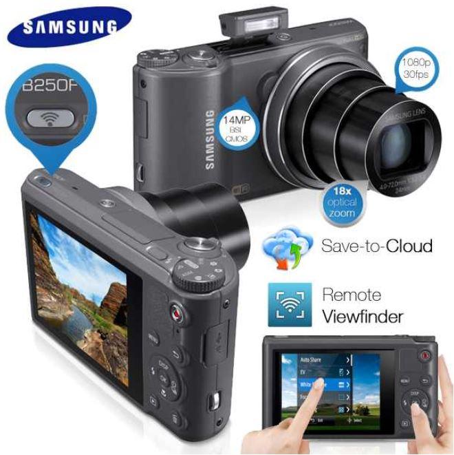 14MP Samsung WB250F, Smart Kamera mit Wi Fi, Touchscreen, 18x Zoom und 24mm Weitwinkel Objektiv inkl. Versand 175,90€