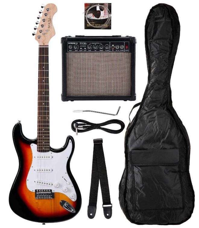 Rocktile Bangers Pack E Gitarren Set, 7 teilig sunburst nur 99€