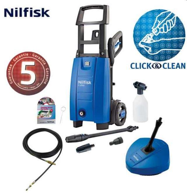 Nilfisk C120.6 6 PCD X Tra, Hochdruckreiniger mit Zubehör und 5 Jahre Garantie, für 119,95€