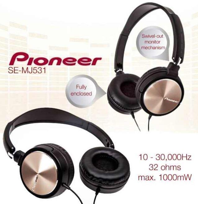 Pioneer SE MJ531, dynamischer Kopfhörer nur 35,90€