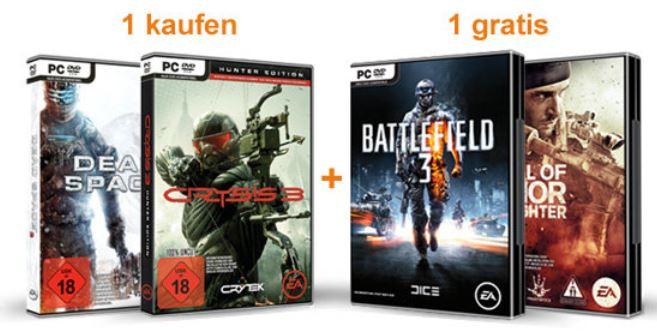 Update! Knaller! Medal of Honor: Warfighter oder Battlefield 3 gratis beim Kauf von Crysis 3 oder Dead Space 3