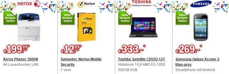 Redcoon Sale 10 Jahre billig z.B. Toshiba Notebook ab 333€