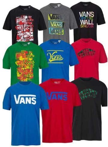 T Shirt von VANS, VOLCOM, SIR BENNNI MILES je nur 13,95€