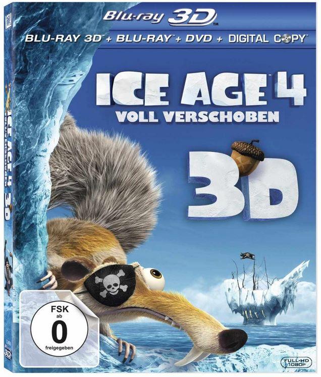 2 x Ice Age 4   Voll verschoben (+ Blu ray + DVD + Digital Copy) kaufen, je nur 13,97€ zahlen!