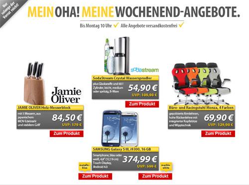 Update! MeinPaket OHA Deals zum Wochenende   z. B. Samsung Galaxy S3 für 364€