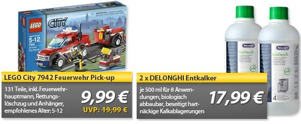 Lego City Feuerwehr Pick up (7942) & DeLonghi Entkalker 500 ml 2er Pack   OHA Deals