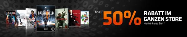 Bis zu 50% Rabatt im ganzen Origin Store + 10€ Gutscheincode   z. B. Assassins Creed 3 für 24,99€