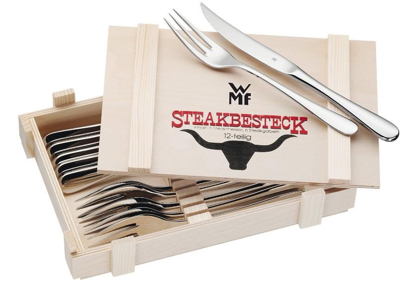 WMF Steakbesteck   12 teilig in Holzkiste für 25,95€
