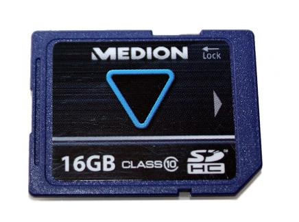 16GB SDHC Karte von Medion für 8,90€   Class 10