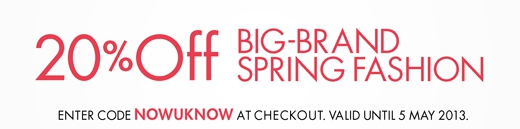 Big Brand Spring Fashion Sale bei Amazon.co.uk