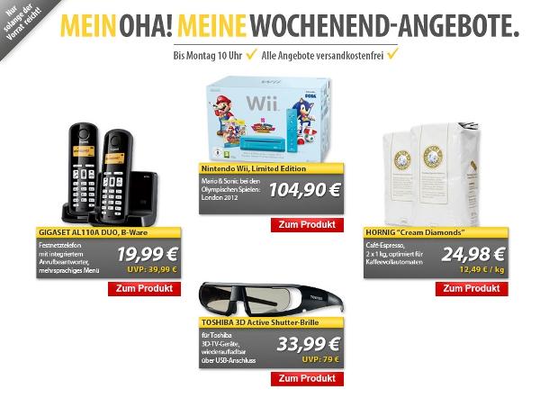 MeinPaket OHA! Wochenend Angebote   z. B. Gigaset AL110A Duo für 19,99€