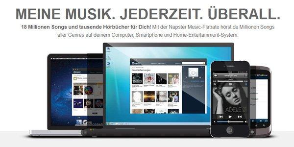 Kostenlos! 2 Monate Napster Musik Flatrate gratis testen