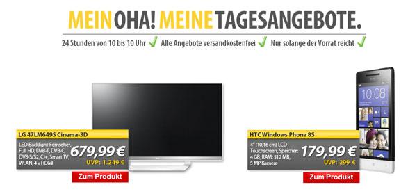 OHA! Deals von MeinPaket   z. B. HTC Windows Phone 8S für 179,99€