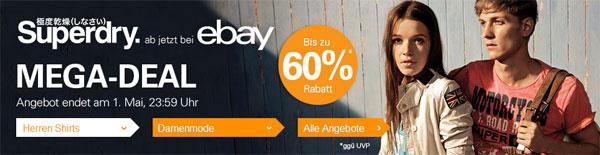 Superdry Sale bei ebay mit bis zu 60% Rabatt