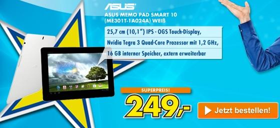 Wieder da! ASUS MeMO Pad Smart ME301T 10,1″ Tablet PC für 249€