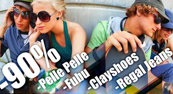 90% Rabatt auf Labels von Pelle Pelle, Fubu, Clay Shoes, Regal Jeans