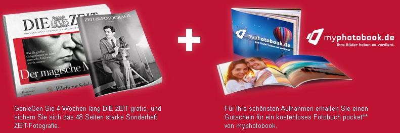 4x DIE ZEIT + Sonderheft Fotografie + kostenloses Fotobuch (Wert 12,90€)