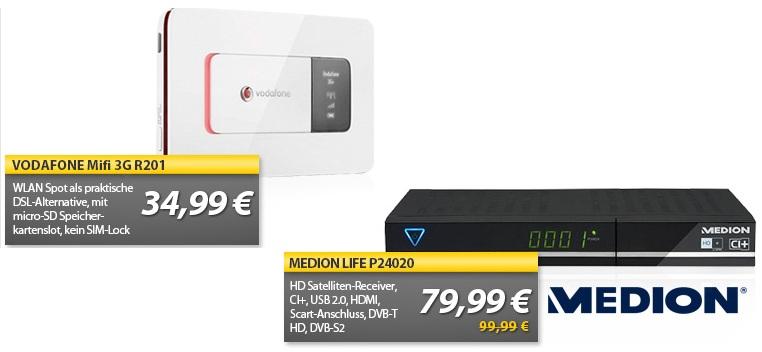 Vodafone MiFi 3G WLAN UMTS Router & MEDION P24020 HD Satelliten Receiver   OHA Deals