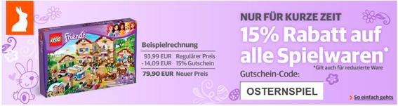 15% Gutschein auf alle Spielwaren Buch.de