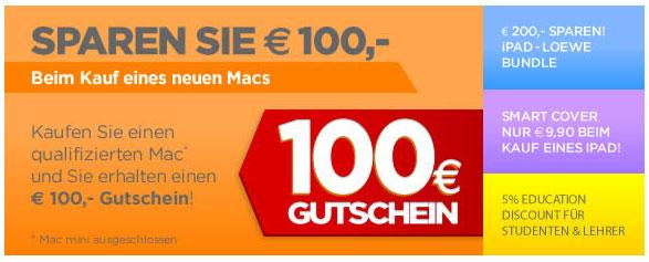 Update! 100€ Sofort Rabatt auf ausgewählte Apple Produkte bei Mactrade   z. B. MacBook Air 11 für 829,54€