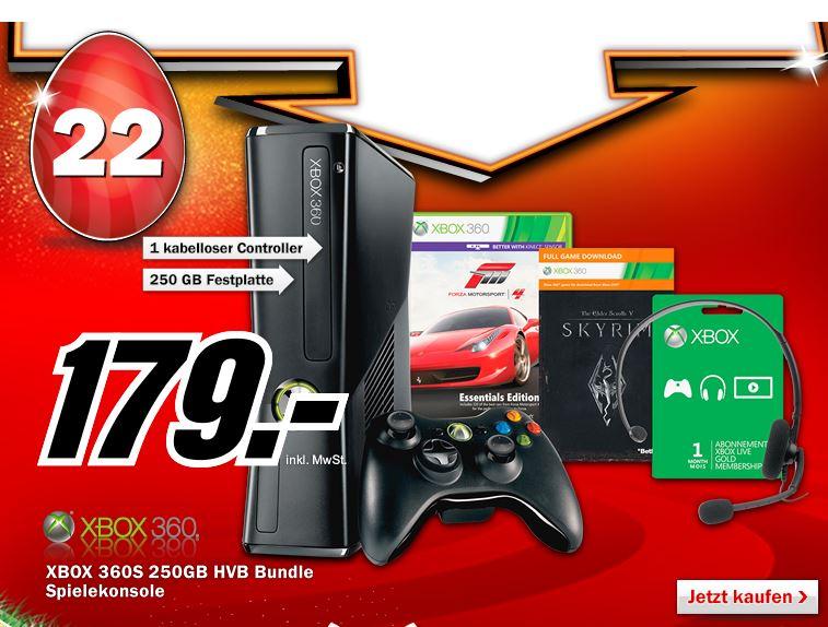 Xbox 360 250GB + Forza 4 Essential Edition + Skyrim Preis 179€