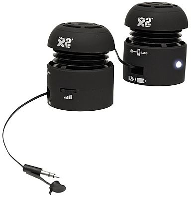 Update! FX2 Mobile Speaker mit integriertem Li Ion Akku für 8,99€