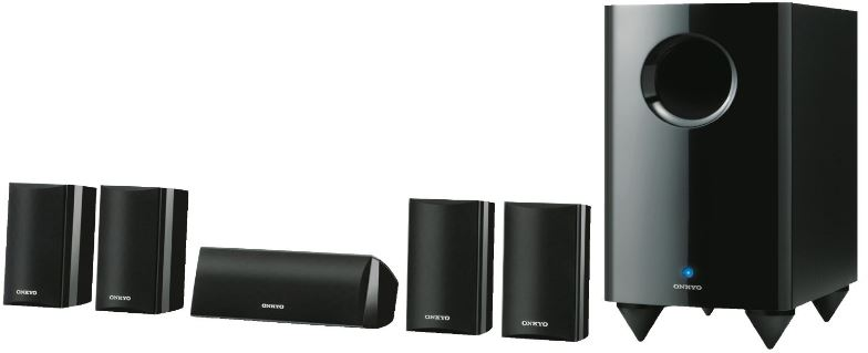 Onkyo SKS HT 528 5.1 Lautsprechersystem (Front 120 Watt, Center 120 Watt, aktiver Subwoofer 150 Watt) für 129,97€