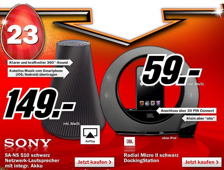 Top! Sony SA NS510 mit DLNA, Airplay und Akku inkl. Versand 149€