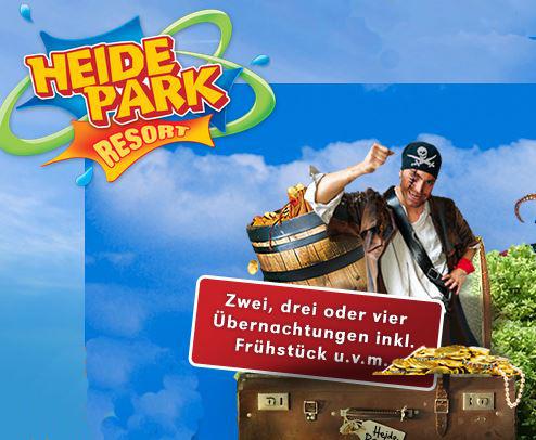 Update! Übernachtung im Heide Park Soltau für 2 Personen inkl. Parkeintritt ab 24€ p. P.