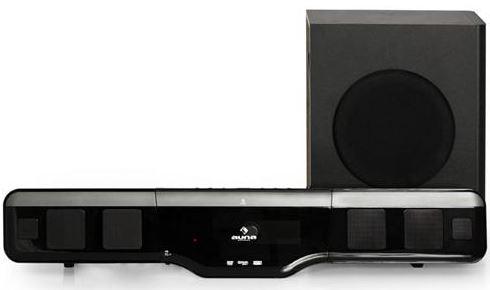 Heimkino System Auna VBSR1K 2.1, Home Cinema Soundbar mit MPEG4 DVD Player, UKW Radio und aktivem Subwoofer 1000W für 149,90€