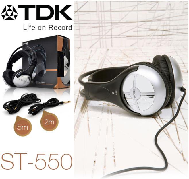 TDK Life on Record ST550, Stereo Kopfhörer mit austauschbaren Kabel für 25,90€