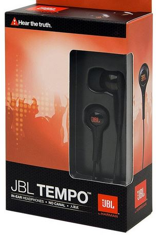 JBL J01B Tempo, In Ear Kopfhörer, schwarz für 14,99€