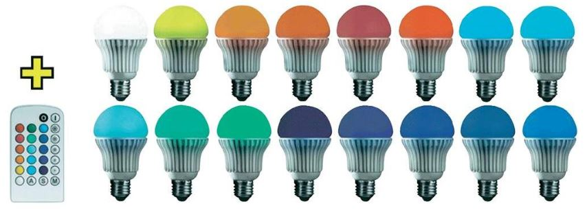Basetech, Globe LED mit RGB und IR Fernbedienung E27, 3,7W, für 14,99€