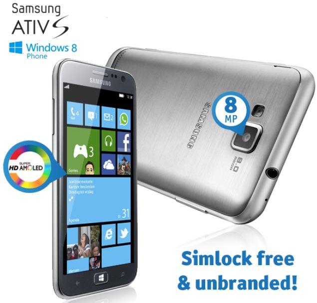 Samsung Ativ S i8750   Windows 8 Smartphone für 131,98€   wieder da!