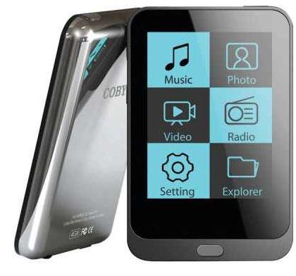 Coby MP823, 2 Touchscreen, Mp3 Video Player mit 8GB für 31,99€