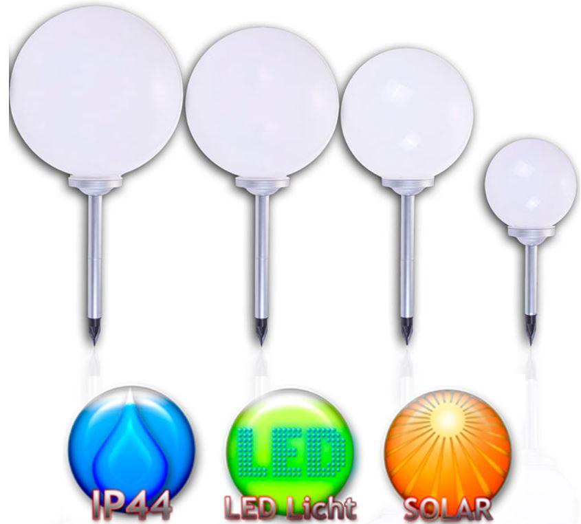 3er Set LED Solarkugel in verschiedenen Größen für 19,99€