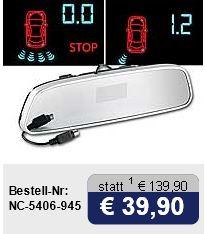 Einparkhilfe PA 480, 8 Sensoren (4 Front, 4 Heck), Rückspiegel Display für 39,90€