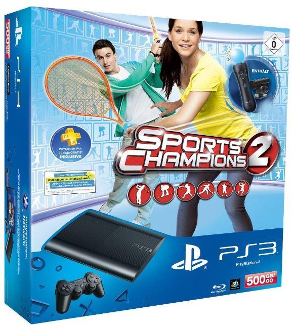 PlayStation 3 Konsole mit 500GB + PS Move Starter Pack + Sports Champions 2 für 249€