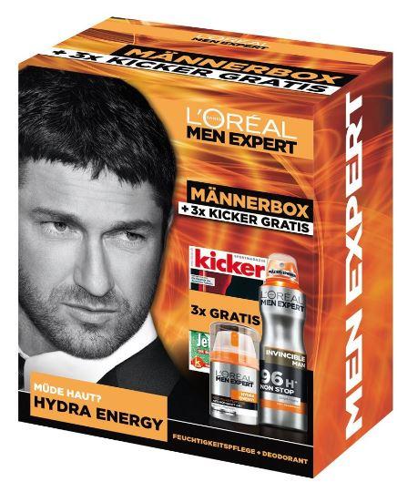 LOral Paris Men Expert Hydra Energy und Deodorant + 3x Kicker gratis für 8,49€
