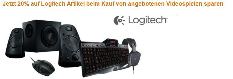 Beim Kauf eines Games 20% Rabatt auf Logitech Produkte bekommen!