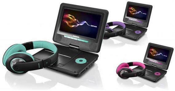Update! Mobiler DVD Player, Lenco DVP 751, inkl. Kopfhörer, USB, SD Slot für je 69,90€
